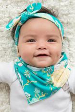 Aquablauwe slab bandana met Japanse bloesem