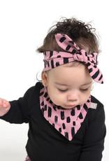 Roze slab bandana sjaal met print