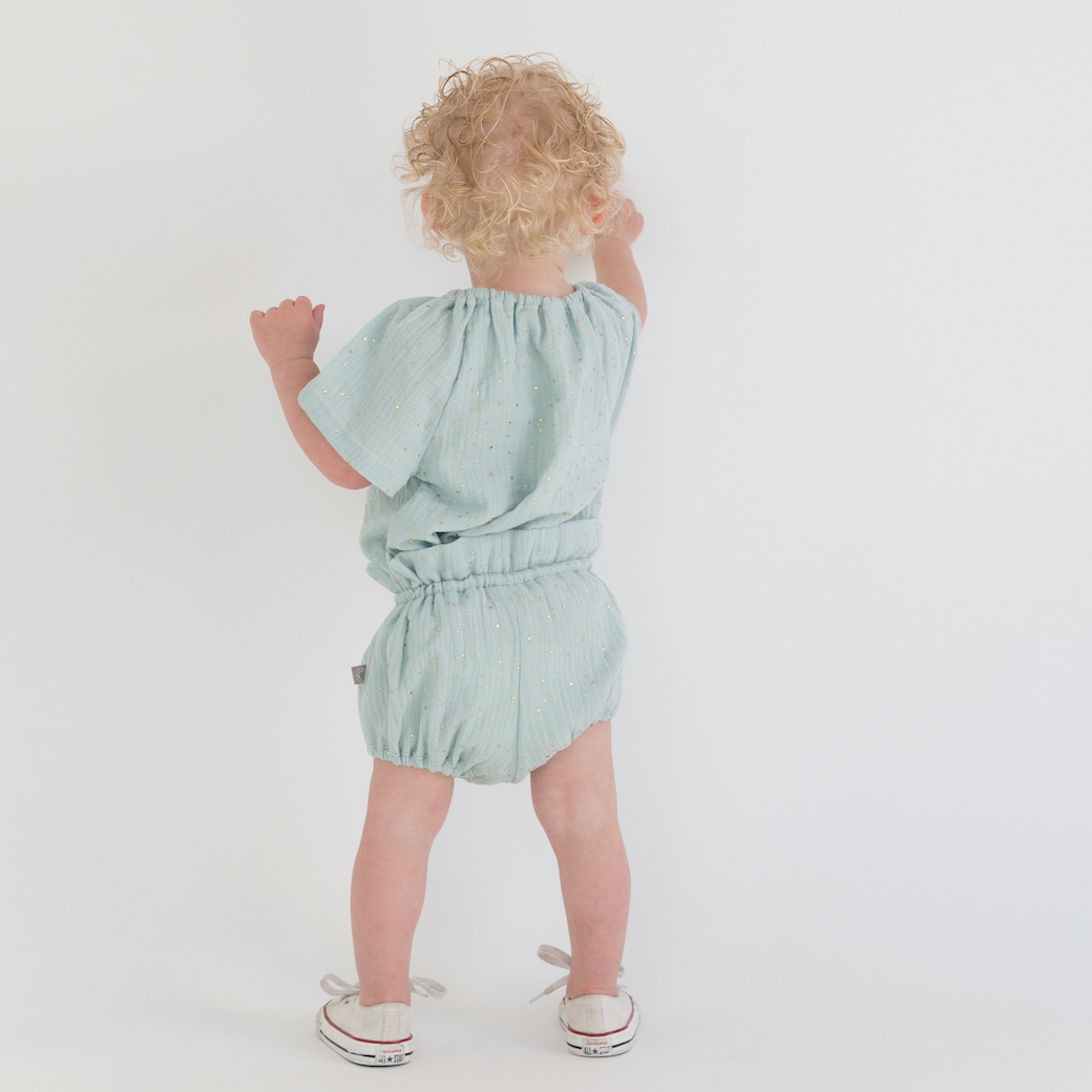 tinymoon Flare Top – Dusty Mint Glitter – Soft Nature