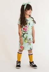tinymoon Hanasaka Jiisan blauw Tee dress