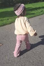 Roze turban haarband van brede rib