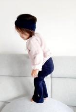 tinymoon Flared broek van brede rib in een donkerblauwe kleur