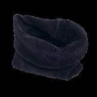 Flared broek van brede rib in zwart