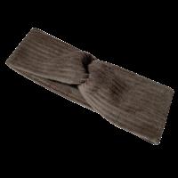 Flared broek van brede rib in de grijs/bruine kleur morel