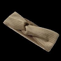 Flared broek van brede rib in de kleur zand