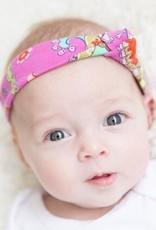 Haarband knoop roze met paisley print