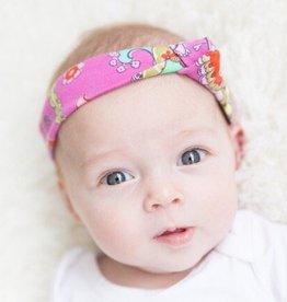 Pink Paisley / haarband knoop