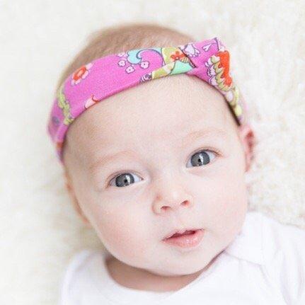 tinymoon Pink Paisley / haarband knoop