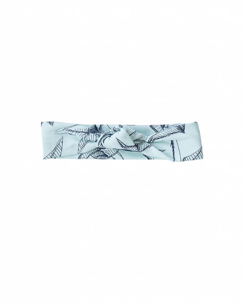 Haarband knoop met kraanvogel print