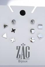 ZAG Bijoux ZAG Bijoux - Massief rondje zilver oorbellen