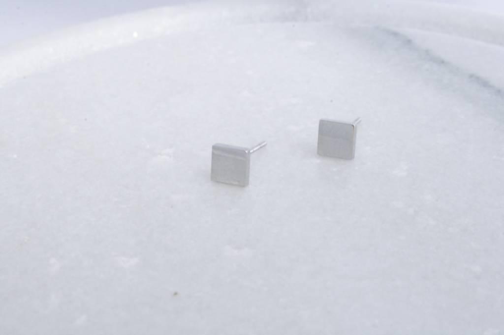 ZAG Bijoux ZAG Bijoux - Vierkant zilver oorbellen