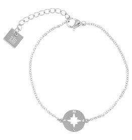 ZAG Bijoux ZAG Bijoux - Armband kompas zilver