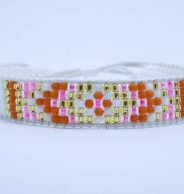 By Loffs By Loffs armband - White/orange
