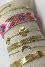 By Loffs By Loffs armband - Pink mix