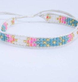 By Loffs By Loffs armband - White/blue/pink