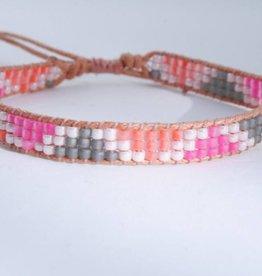 By Loffs By Loffs armband - Pink/orange