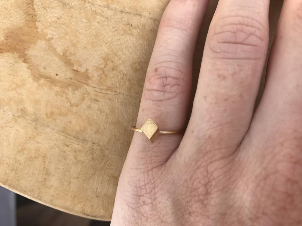 ZAG Bijoux ZAG Bijoux - Ring ruit mat rose goud