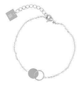 ZAG Bijoux ZAG Bijoux - Armband cirkel/rondjes zilver