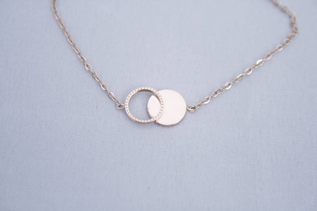 ZAG Bijoux ZAG Bijoux - Armband cirkel/rondjes rose goud
