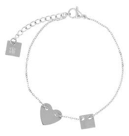 ZAG Bijoux ZAG Bijoux - Armband hart zilver