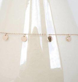 ZAG Bijoux ZAG Bijoux ketting - Coins rose goud