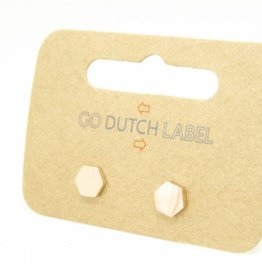 Go Dutch Label Oorbellen Go Dutch Label - Zeshoek rose goud