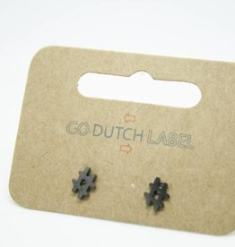 Go Dutch Label Oorbellen Go Dutch Label - Hashtag # zwart/gun metal