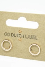 Go Dutch Label Go Dutch Label - Open cirkel rose goud