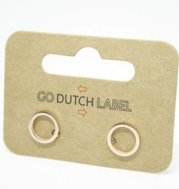 Go Dutch Label Oorbellen Go Dutch Label - Open cirkel rose goud