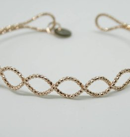 Go Dutch Label Armbanden Go Dutch Label - Waves rose goud