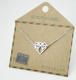 Go Dutch Label Armbanden Go Dutch Label - Diamant zilver