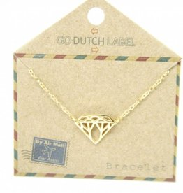 Go Dutch Label Armbanden Go Dutch Label - Diamant goud