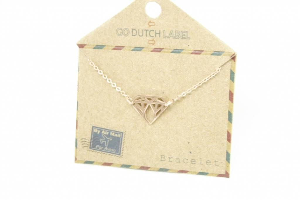 Go Dutch Label Go Dutch Label - Diamant rose goud