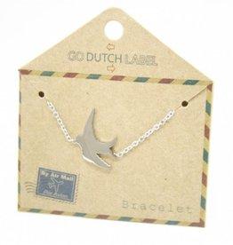 Go Dutch Label Armbanden Go Dutch Label - Zwaluw zilver
