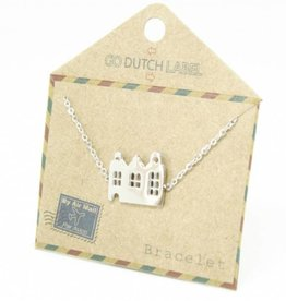 Go Dutch Label Armbanden Go Dutch Label - Amsterdamse huisjes zilver