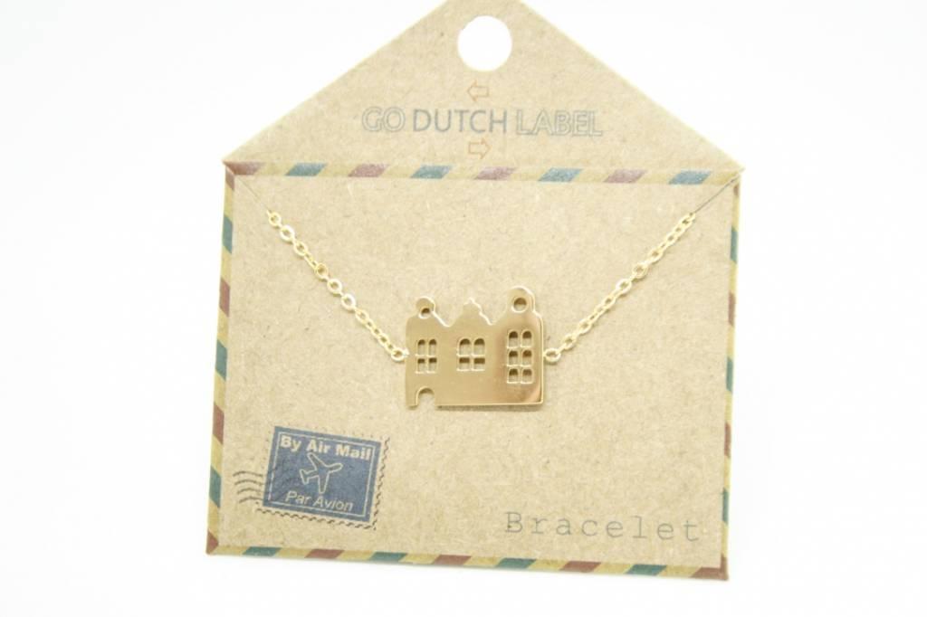 Go Dutch Label Go Dutch Label - Amsterdamse huisjes goud
