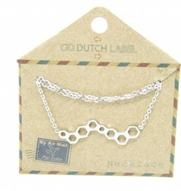 Go Dutch Label Kettingen Go Dutch Label - Honingraat zilver