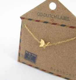 Go Dutch Label Armbanden Go Dutch Label - Vlinder goud