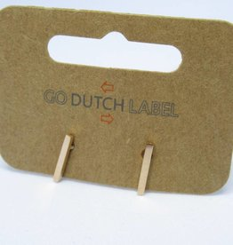 Go Dutch Label Oorbellen Go Dutch Label - Staafje/bar rose goud