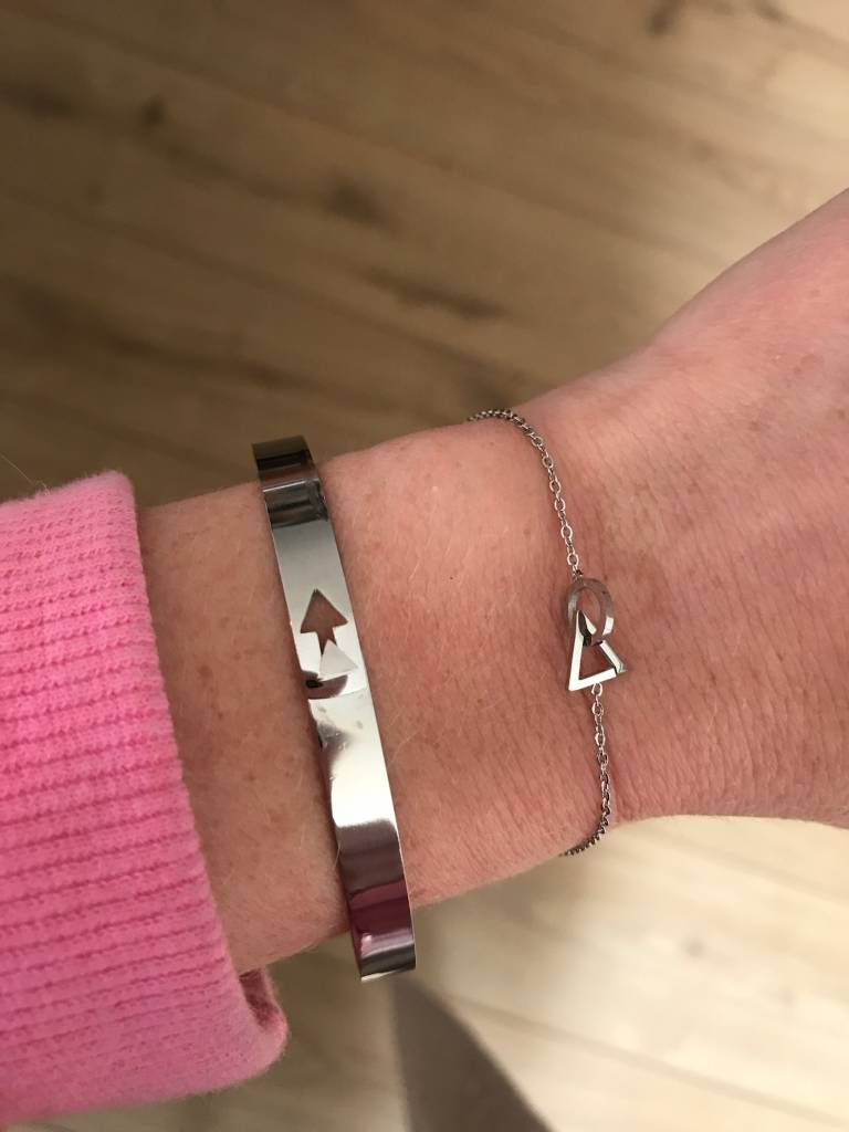 Go Dutch Label Go Dutch Label - Slavenarmband arrow zilver