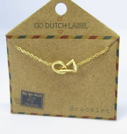 Go Dutch Label Armbanden Go Dutch Label - Cirkel driehoek goud