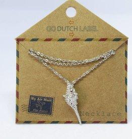 Go Dutch Label Kettingen Go Dutch Label - Schelp zilver