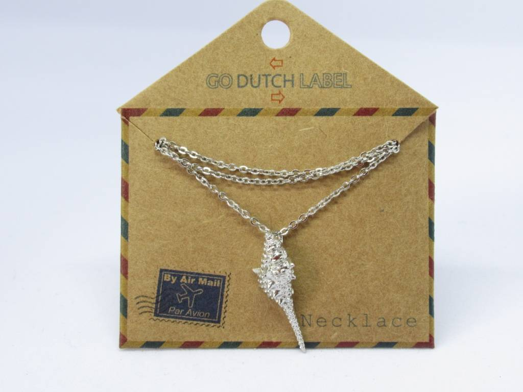 Go Dutch Label Go Dutch Label - Schelp zilver