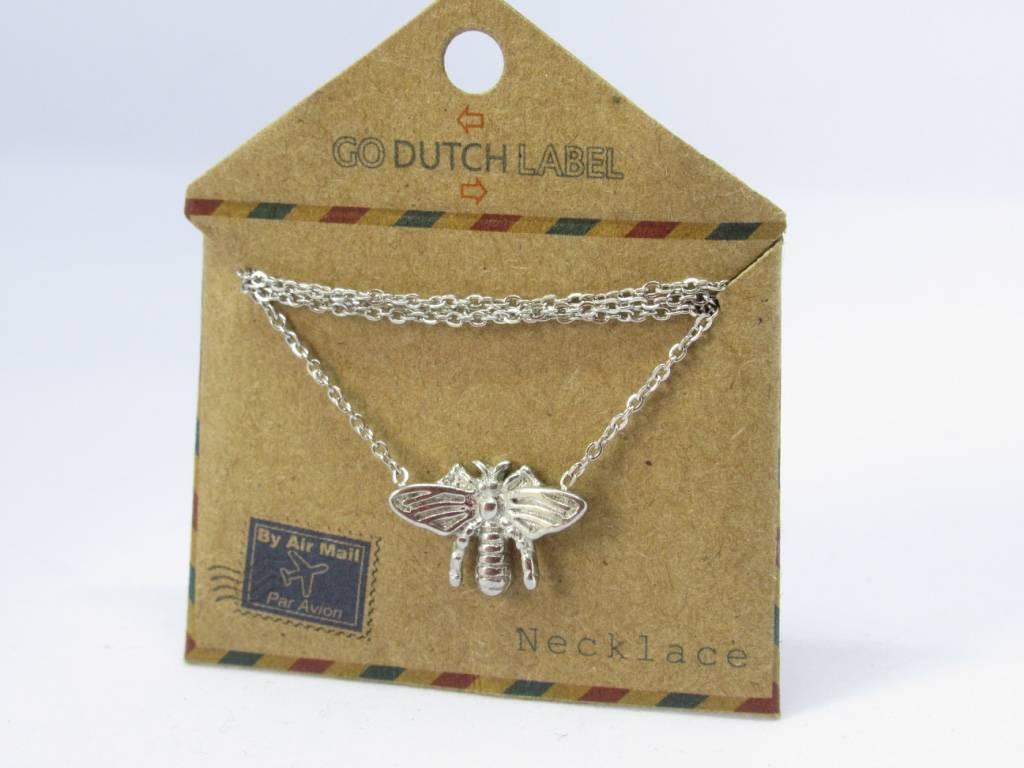 Go Dutch Label Go Dutch Label - Honey bee/vlieg zilver