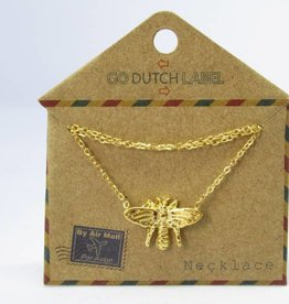 Go Dutch Label Kettingen Go Dutch Label - Honey bee/vlieg goud