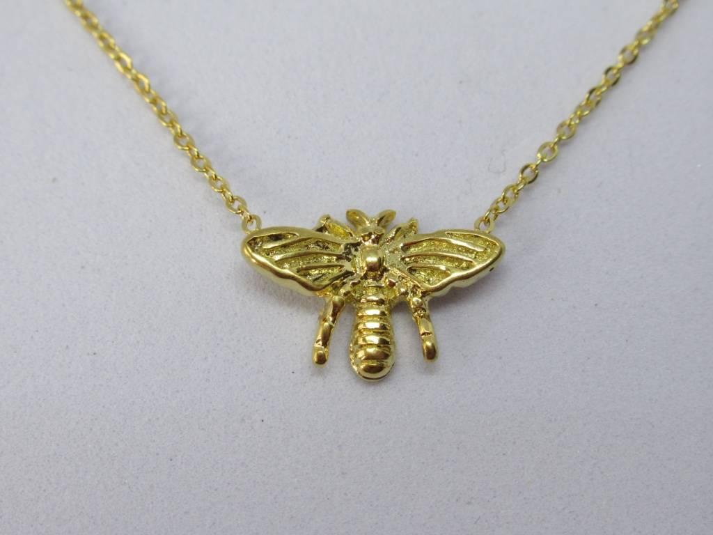 Go Dutch Label Go Dutch Label - Honey bee/vlieg goud