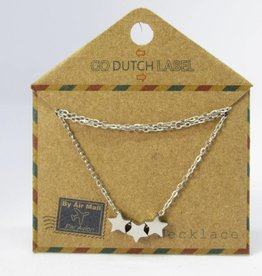 Go Dutch Label Kettingen Go Dutch Label - Stars zilver