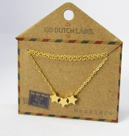 Go Dutch Label Kettingen Go Dutch Label - Stars goud