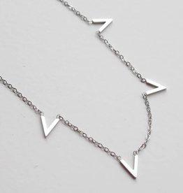 ZAG Bijoux ZAG Bijoux enkelbandje - Multi V zilver