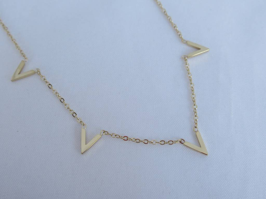 ZAG Bijoux ZAG Bijoux enkelbandje - Multi V goud